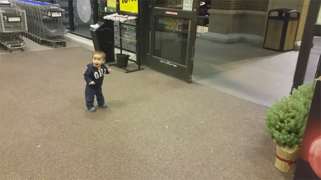 This Made Our Day: Watch this Toddler's Reaction to Automatic Sliding Doors
