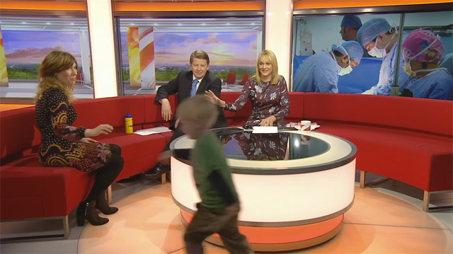 This Made Our Day: 4-Year-Old Runs Around Laughing on a Live TV Show