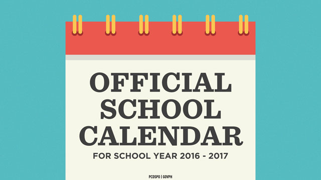 DepEd Releases Calendar for School Year 2016 to 2017