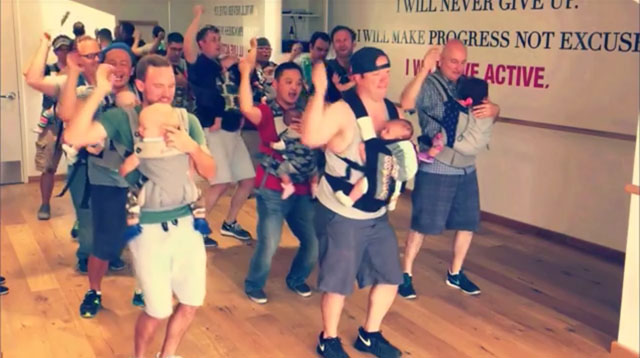 "Oh Yeah! Babywearing Dads Dance to ""Play That Funky Music"""
