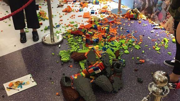 Ow! Preschooler Destroys a Life-Size Lego Sculpture