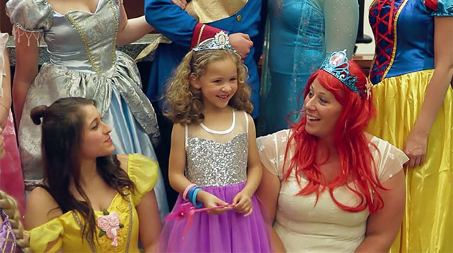 Disney Princesses Show Up for a Little Girl's Adoption Hearing