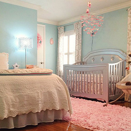 5 Ideas for a Combined Nursery and Master Bedroom | SP on crib in our bedroom, nursery sets and collections, baby crib in bedroom, nursery in guest bedroom,