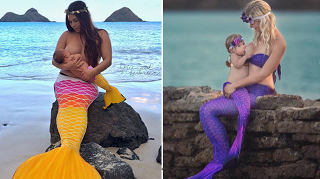 Look! Mom Picks Mermaid Theme for Her Breastfeeding Photo Shoot