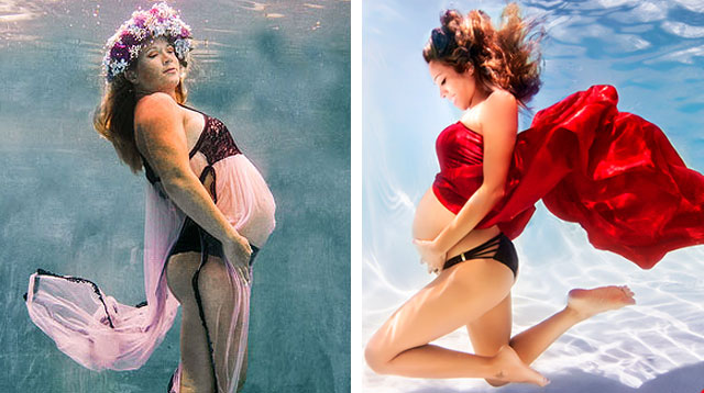 Underwater Is a Maternity Photo Shoot Trend We Love Right Now!