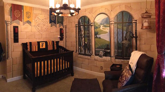 Check Out the Awesome Harry Potter Nursery a Dad Designed