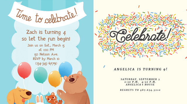 Check them out 14 venues for an unforgettable kiddie birthday party these 17 free printable party invitations can help stopboris Choice Image