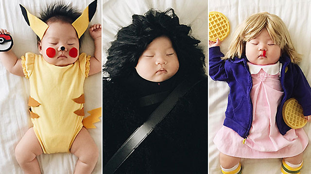 This Baby Girl Sleeps So Soundly That Her Mom Can Dress Her Up!
