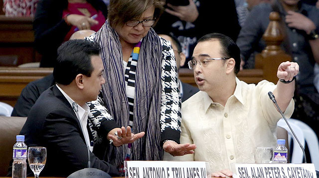 5 Away-Bata Moments Between Senators Cayetano and Trillanes