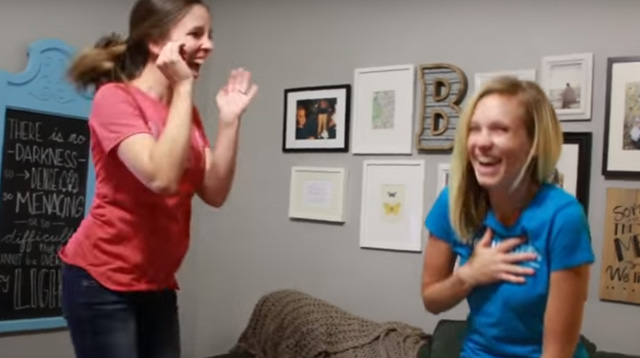WATCH: Sisters Surprise Each Other With the Same Announcement