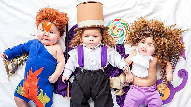These Triplets Are So Ready for Their Halloween Dress-Up