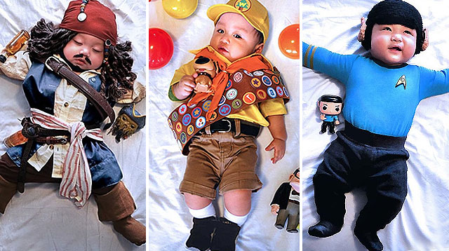 This Baby's Monthly Milestone Photos Channel Pop Culture Icons