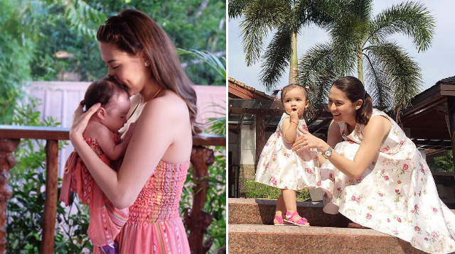 Marian Rivera and Baby Zia Are Super Adorable in Twinning Outfits