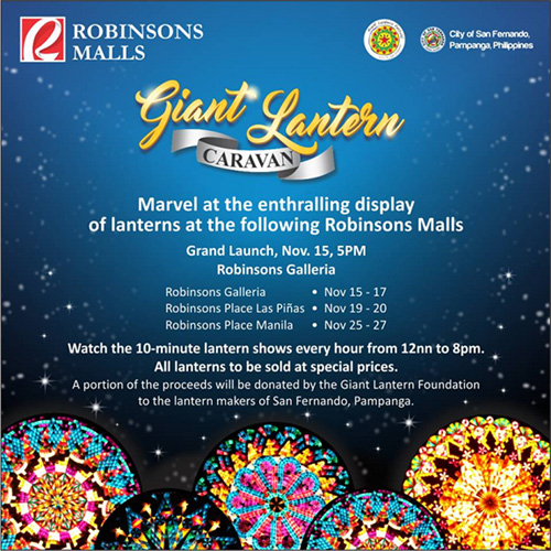 Updated a guide to metro manilas must see holiday attractions 2016 a 10 minute lantern show played every hour from 12pm to 8pm all lanterns are sold at a special price and proceeds will go to the lantern makers of stopboris Images