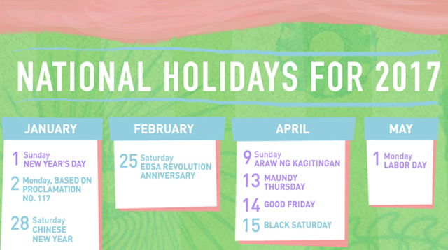 Vacation Planning Time! Here Are the 2017 Philippine Holidays