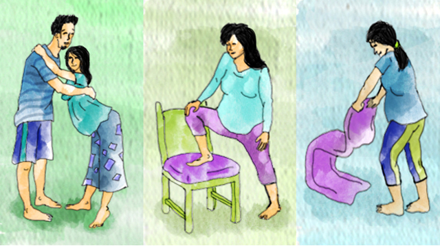 Illustrated! 14 Positions That Can Help Ease Labor Pain
