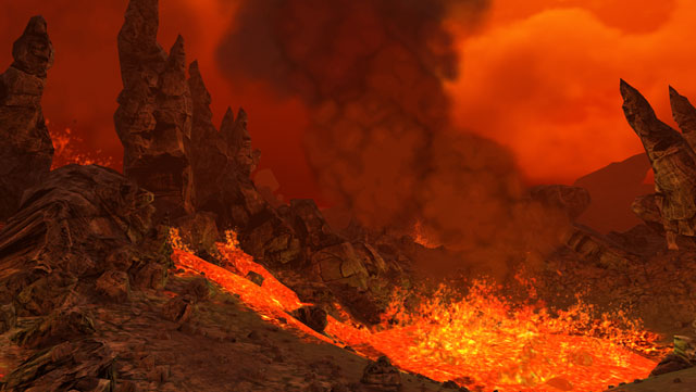 VR-Volcano Flythrough