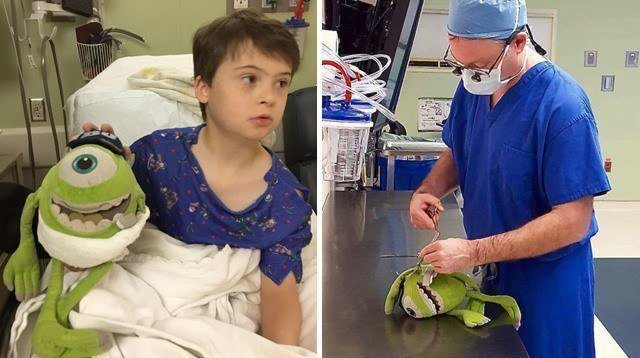 Boy with Down Syndrome, Stuffed Toy Undergo Surgery Together