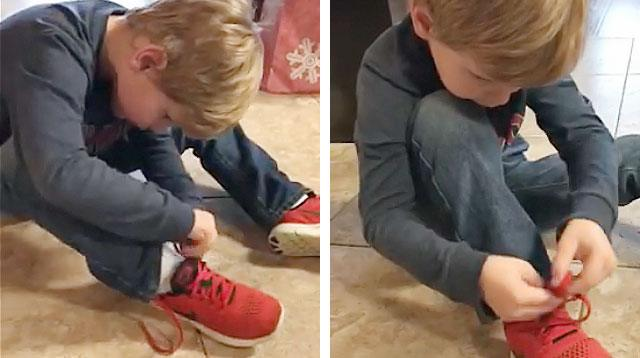 This 5-Year-Old's Shoelace-Tying Hack Is Genius!