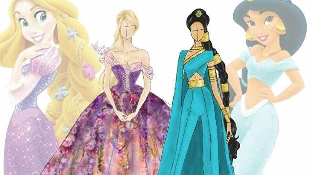 Fashion Designer Dreams Up Disney Princess-Inspired Gowns