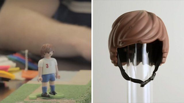 LOOK: Bike Helmet Gives Your Child a Toy Figure's Hair