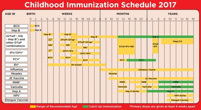 Note That Some Vaccines Require Several Shots At Diffe Ages As Plotted On The Chart A Few Of Vaccine Types Already Contain Protection From