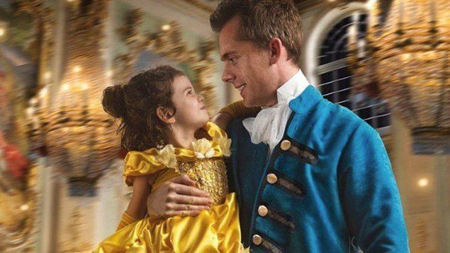 Wow! Dad Recreates Beauty and the Beast Scenes With His Daughter