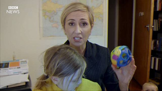 Video Imagines How a Mom Would Have Handled BBC Dad's Situation