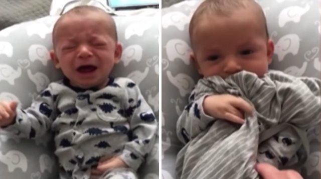 See Dad's Secret Weapon to Calm His Crying Baby When Mom Is Away