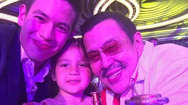 LOOK: Jake Ejercito with Daughter Ellie At Erap's Birthday Party!