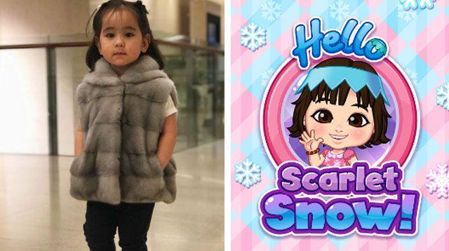 Cute! Scarlet Snow Now Has a Free Educational App