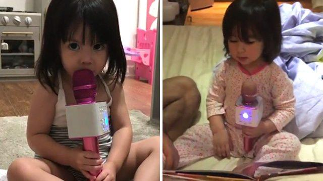 Scarlet Snow and Olivia Show Why a Toy Microphone Is a Good Idea