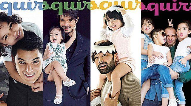 LOOK: Celebrity Dads and Their Kids on Esquire PH Cover