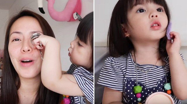 WATCH: Baby Olivia Doing Her Mom's Makeup is the Cutest!