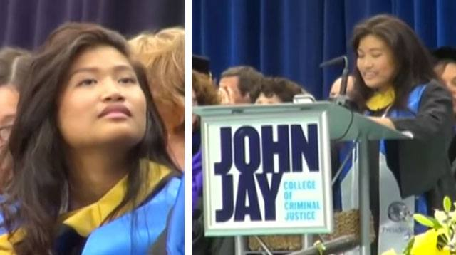 Pinay With Spinal Cord Birth Defect Graduates at New York College