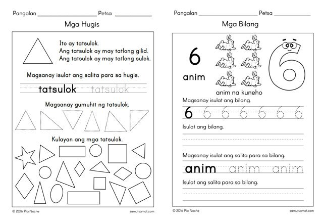 Where To Find Free Printable Worksheets For Counting And Numbers Sp. We've Also Featured Samutsamot In The Reading And Writing Worksheets List It Is One Of Best Resource Sites For Children's Filipino. Kindergarten. Worksheet For Kindergarten Filipino At Mspartners.co