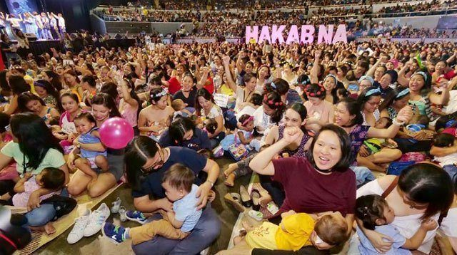 Filipino Moms Unite to Show Breastfeeding Is Best for Babies