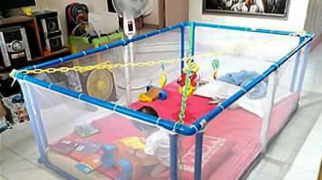 Mom From Davao City Spent Only P1,000 to Make This Giant Playpen