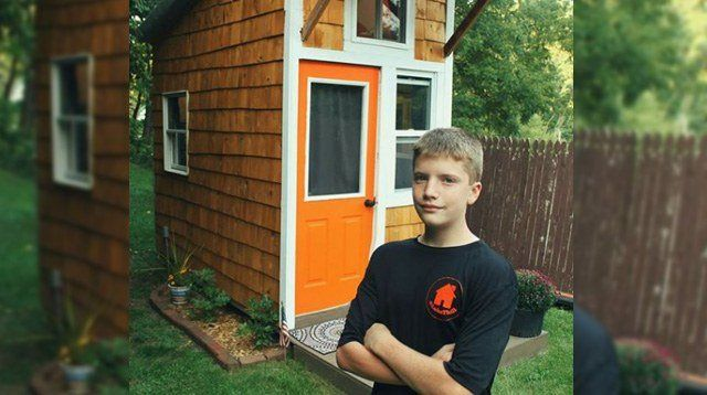 A 13-Year-Old Builds His Own Tiny House In His Parents' Backyard
