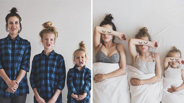 We're Definitely Copying This Mom's Matchy-Matchy Photos!