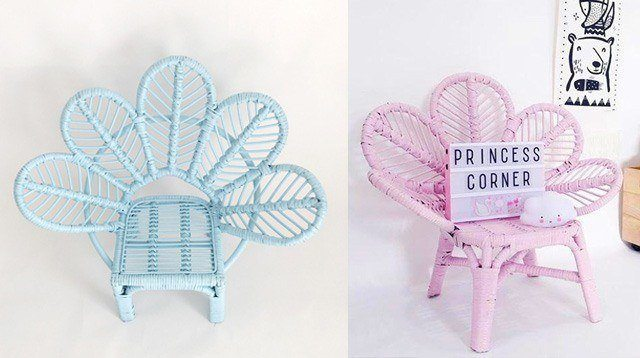These Mini Peacock Chairs Are Perfect For Your Little Princesses