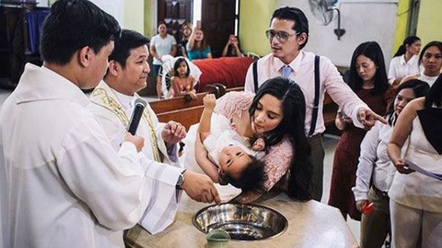 LOOK! Baby Isabella Baptized on Dad Robin Padilla's Birthday