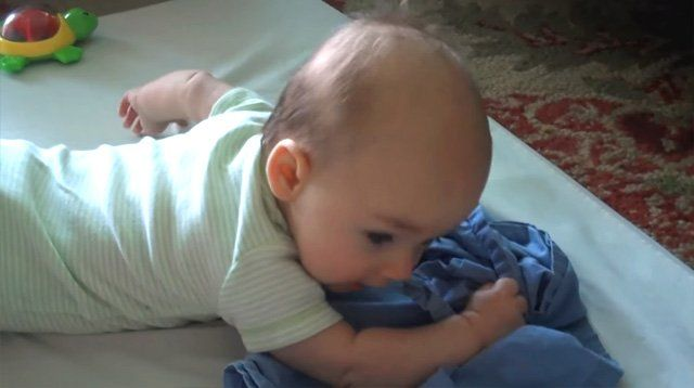 This Little One Is Proof Babies Can Comfort Themselves When Crying