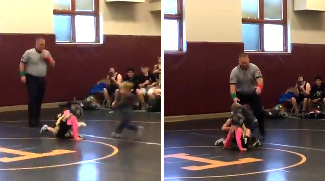 Awww! Toddler Runs to Save His Sister Who Was in a Wrestling Match
