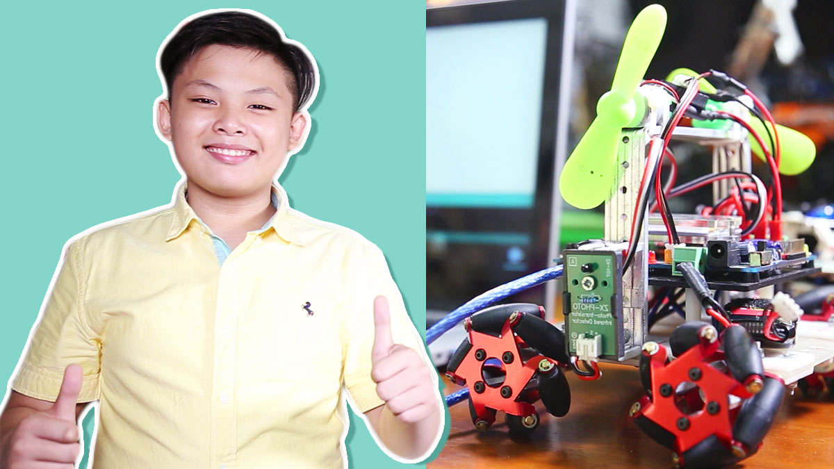 How This Young Robot Builder Taught Himself Programming at Age 7