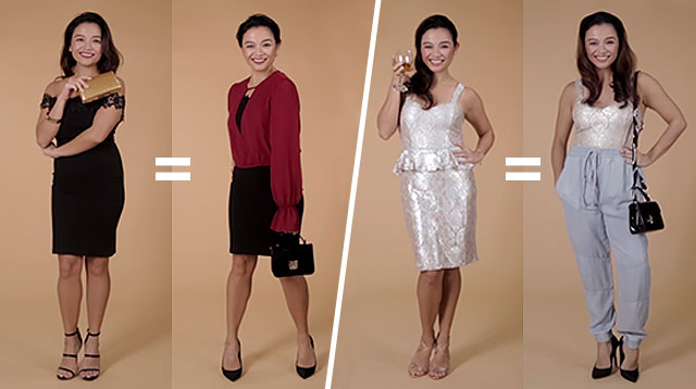 Create 8 Different Looks to Re-Wear 2 Cocktail Dresses Year-Round