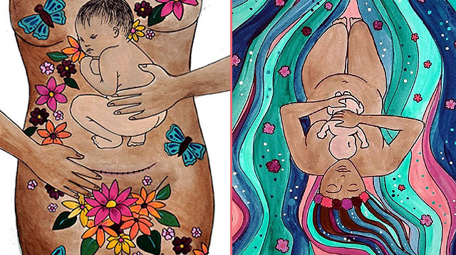 Mom Creates Art That Beautifully Honors All Birth Experiences