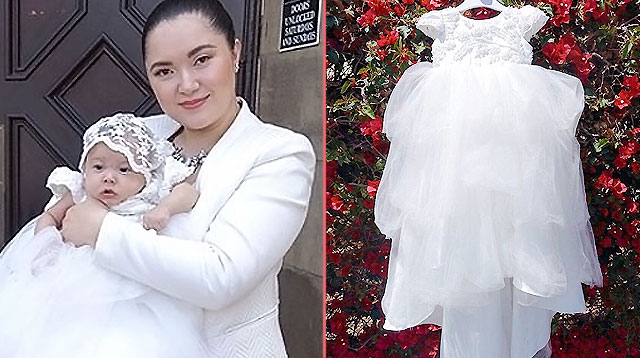 Alyanna Martinez Calls Daughter's Baptismal Gown a 'Waterfall of Cuteness'