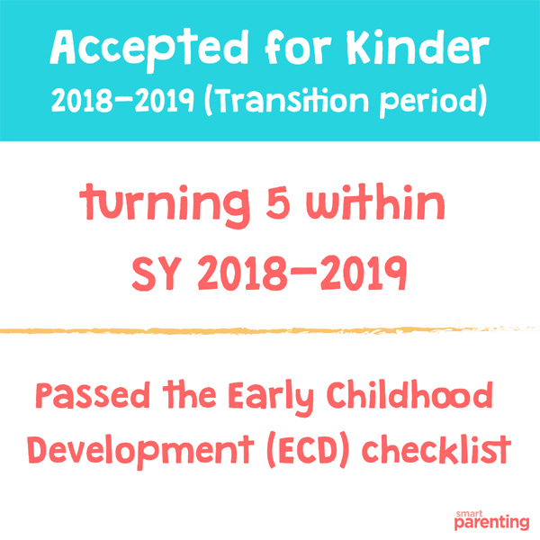 Deped Preschool Age Requirement