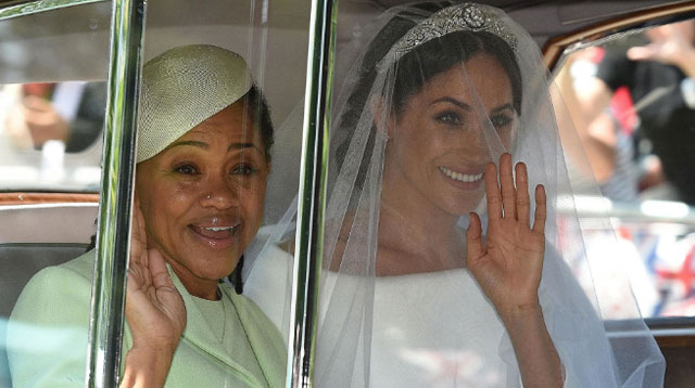 Meghan Markle's Mom Was Emotional But Held It Together Like a Queen